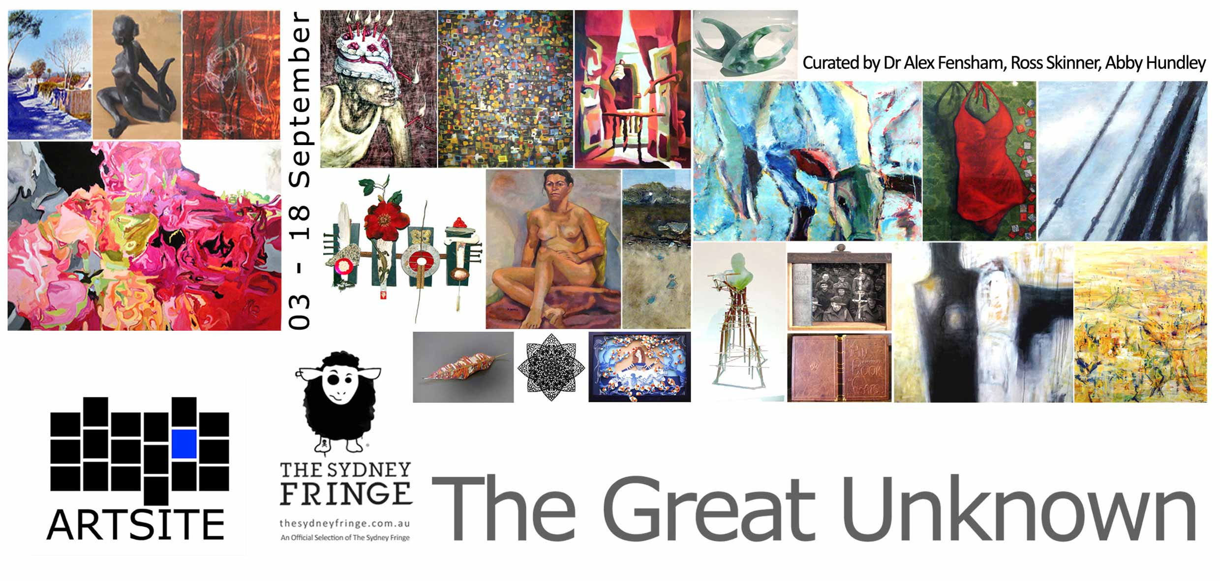 GU11 - The Great Unknown, Artsite Gallery, 03 - 18 September 2011. An exhibition of Un(der)Represented local Sydney Artists - Curated by Alex Fensham, Ross Skinner, Abby Hundley.