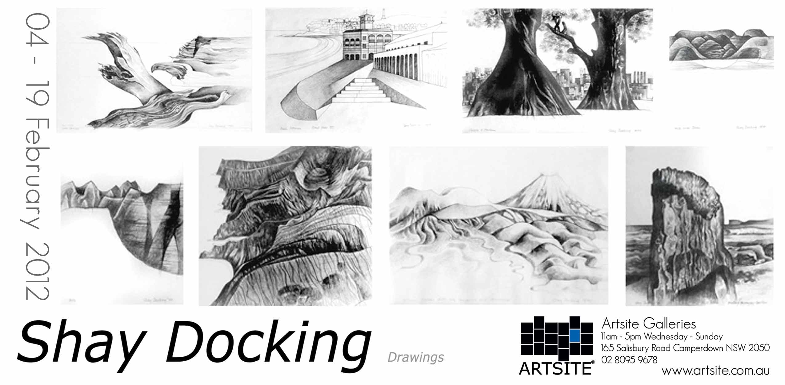 View Exhibition at Artsite Gallery, Sydney: 04 - 19 February 2012: Shay Docking (1928-1998) - The Drawings