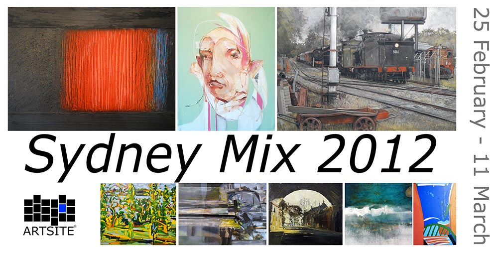 View Exhibition at Artsite Gallery, 25 February - 11 March 2012: Sydney Mix 2012, Kerwayne Berry | Vanessa Batte | Denis Clarke | Greg Hansell | Idris Murphy | Terry O'Donnell | Desiderius Orban | Dan O'Toole (EARS) | Colin Parker | Tang | Madeleine Tuckfield-Carrano | David Van Nunen | Salvatore Zofrea
