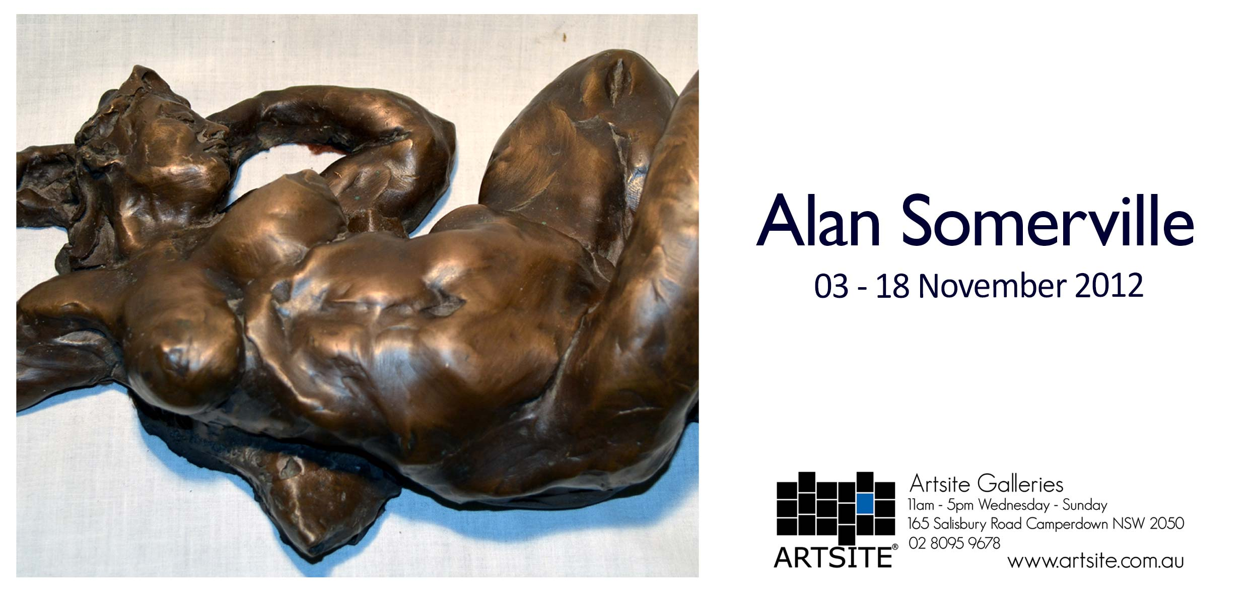 View Exhibition at Artsite Gallery, Sydney: The Unbearable Lightness of Touch - Alan Somerville. 03 - 18 November 2012