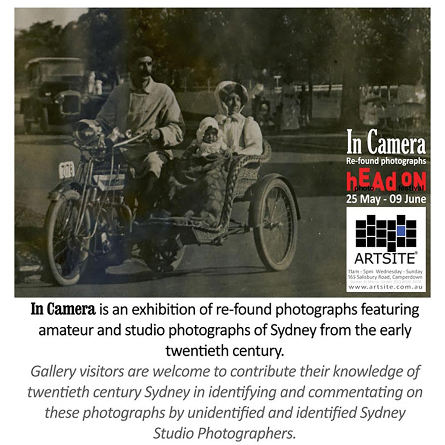 In Camera - Not a Pixel in Sight. HeadOn Photo Festival 2013. Artsite Gallery 25 May - 09 June 2013.