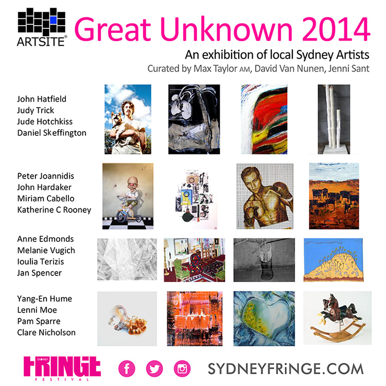 TNew Artists Exhibition - The Great Unknown 2014 - 30 August - 14 September 2014