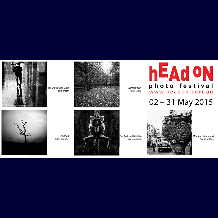 Head On Photo Festival 2015 Artsite Gallery 02 -31 May 2015. Artsite Gallery presents the work of five Head On Associate Photographers, Paula Broom, Fay (Bell) Clark, Dylan Coombe, Kevin Leong, and Mathew Wylie, whose individual bodies of work were selected for exhibition by the 2015 Photo Festival Selection Committee: Amanda James, Anthony Browell, Bronwyn Rennex, James Cottam, John Donegan, Louisa Kirby and Tim Hixson.