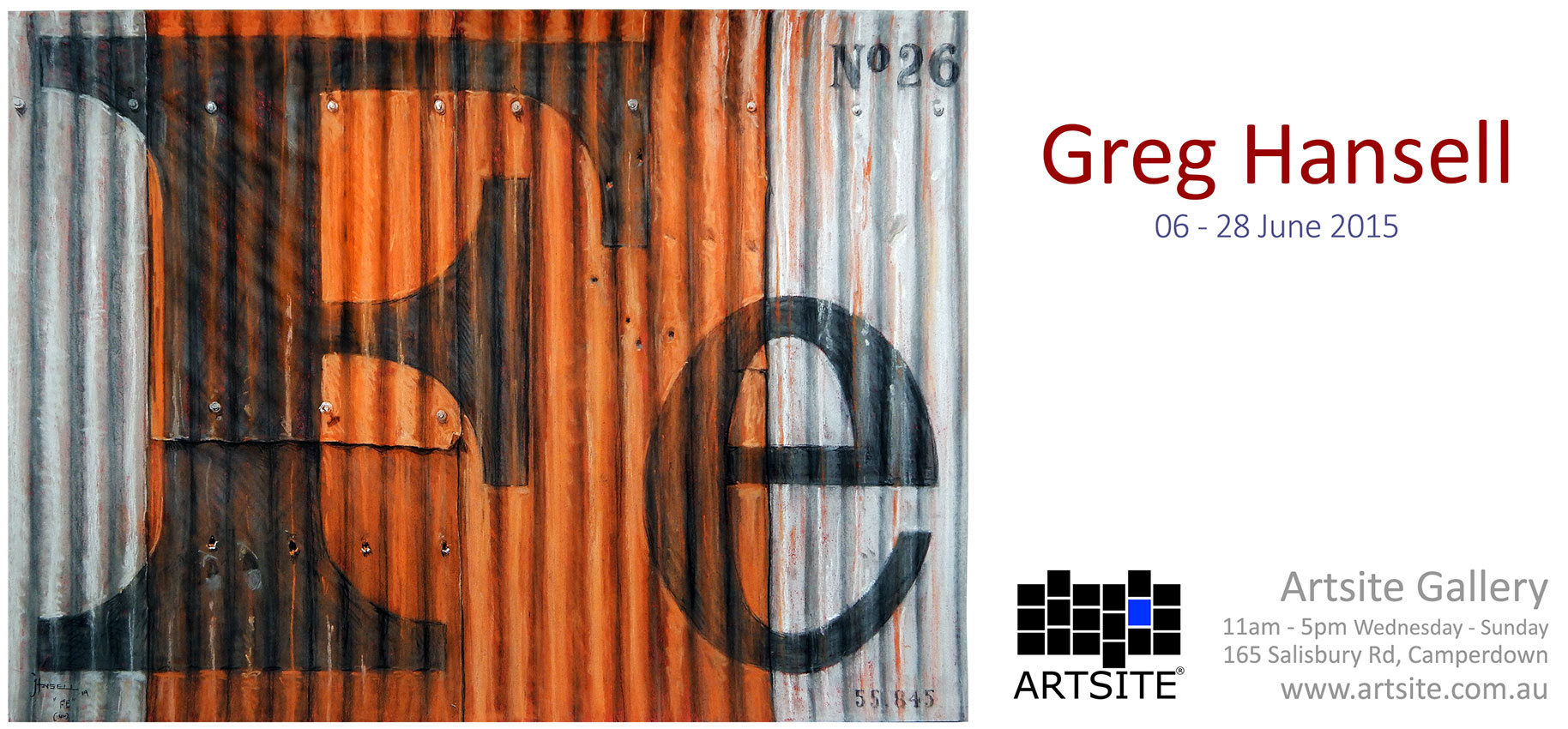 View Exhibition at Artsite Gallery. 06 - 28 June 2015: Greg Hansell - Earth Pastels