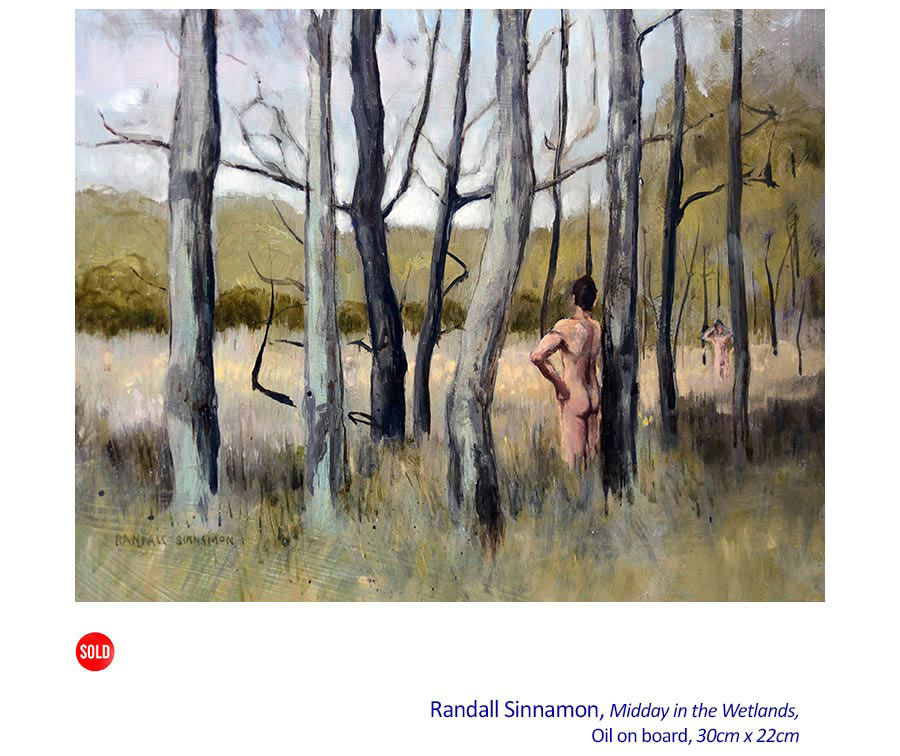 Landscapes and Interiors with Figures: with Randall Sinnamon. Curator: Max Taylor AM. Artsite Gallery 04 - 26 July 2015.
