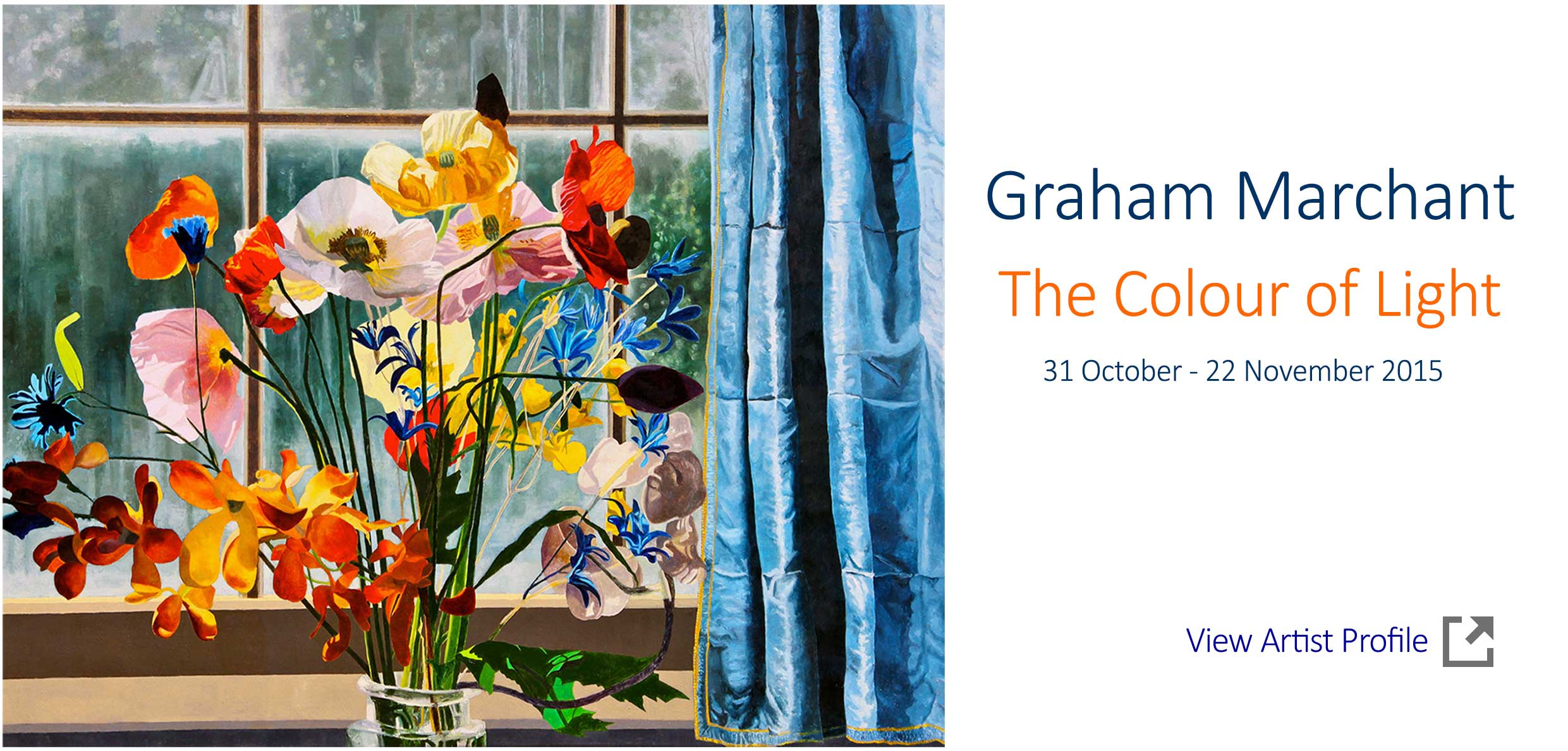 Artsite Gallery Exhibition  - Graham Marchant - The Colour of Light - Solo Exhibition. Artsite Gallery 31 October - 22 November2015 - join the artist at the opening on Sunday 1st November 3-5pm - All Welcome
