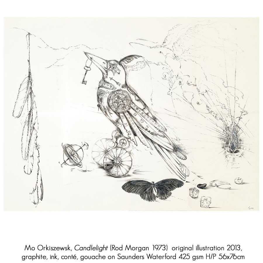 The Illustrated Lyrics of Old Man Crow: Rod Morgan (lyrics) and Mo Orkiszewski (Illustrator, bookbinder), Artsite Gallery 03 - 25 September 2016