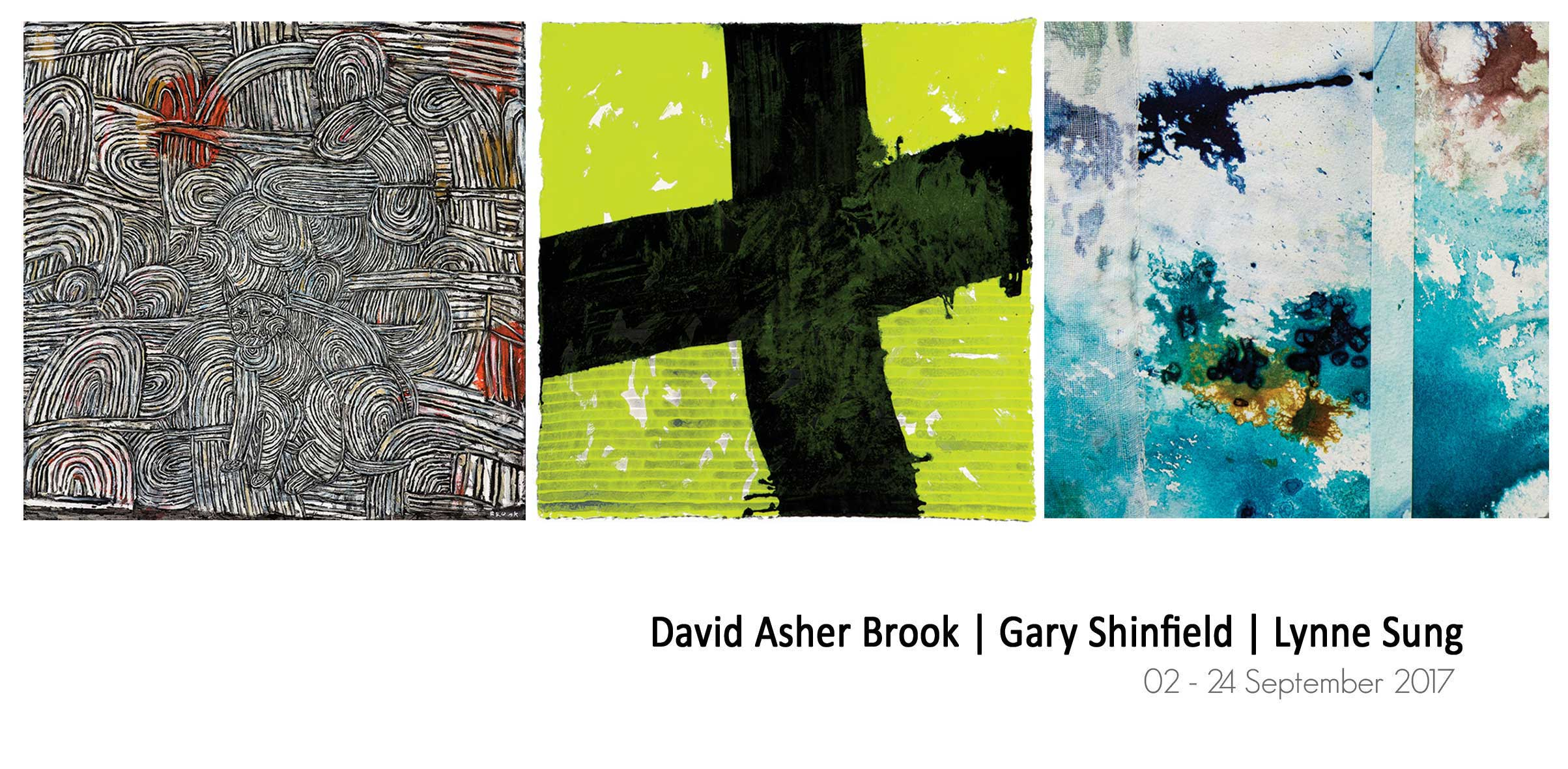 View Exhibition at Artsite Gallery, Sydney: 02 - 24 September 2017 - David Asher Brook | Gary Shinfield | Lynne Sung