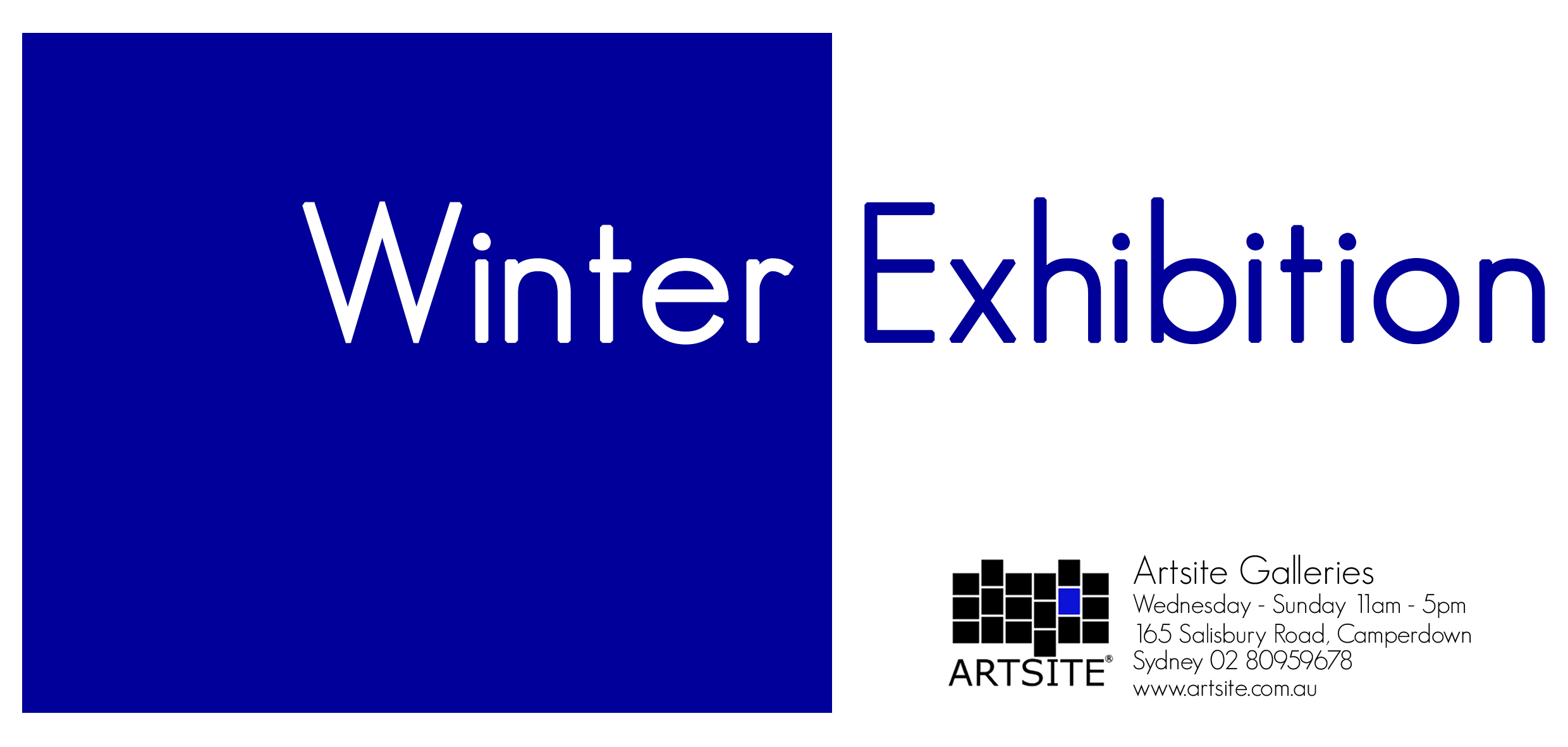 Artsite Gallery Winter Exhibition | Open Weekends | Saturdays and Sundays 11am - 5pm | June and July 2019