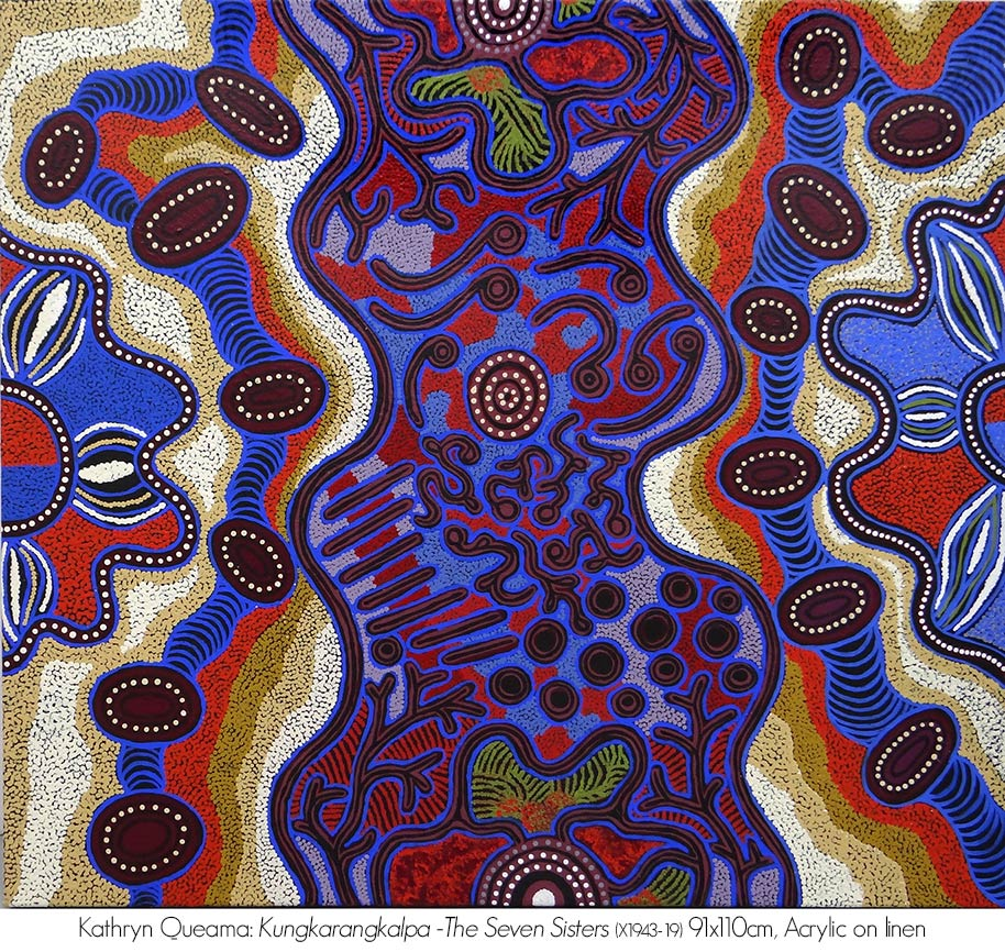 Artsite Galleries Exhibition | Artists from the Central Desert | Maruku Arts | Sarah Dalby | Beryl DeRose | Lucinda James | Francine Kulitja | Rene Kulitja | Selina Kulitja | Pantjiti McKenzie | Kathryn Queama | Freda Teamay | Judy Trigger | 02 -24 November 2019.