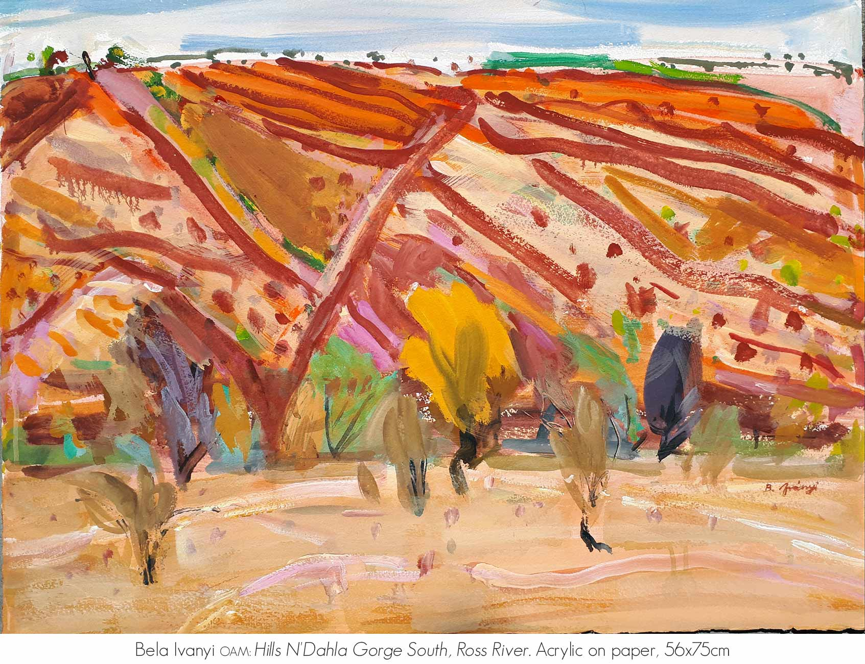 Artsite Galleries Exhibition | REFLECTIONS OF AN ANCIENT LAND: The MacDonnell Ranges | Bela Ivanyi. Exhibition is Open June - July 2020. Saturdays and Sundays 11am - 5pm and By Appointment Monday - Friday.