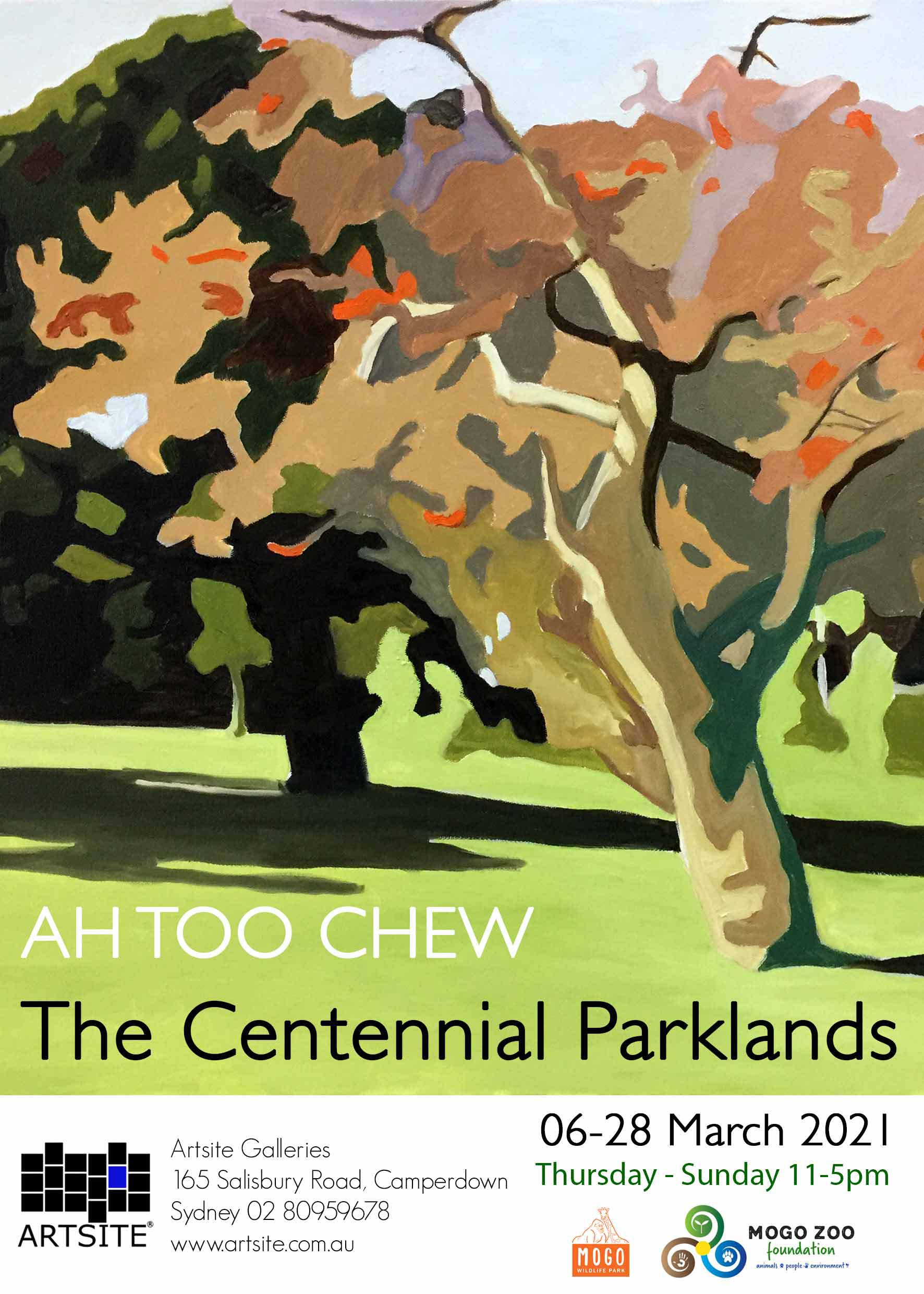 Artsite Galleries | The Centennial Parklands | Ah Too Chew | Solo Exhibition | Thursday - Sunday 11-5pm | 06-28 March 2021.