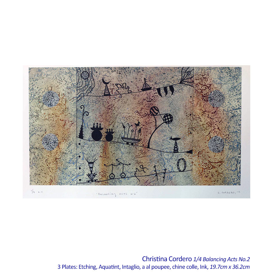 Christina Cordero - Etchings - Solo Exhibiton Artsite Gallery, Sydney, 05 - 27 September 2015