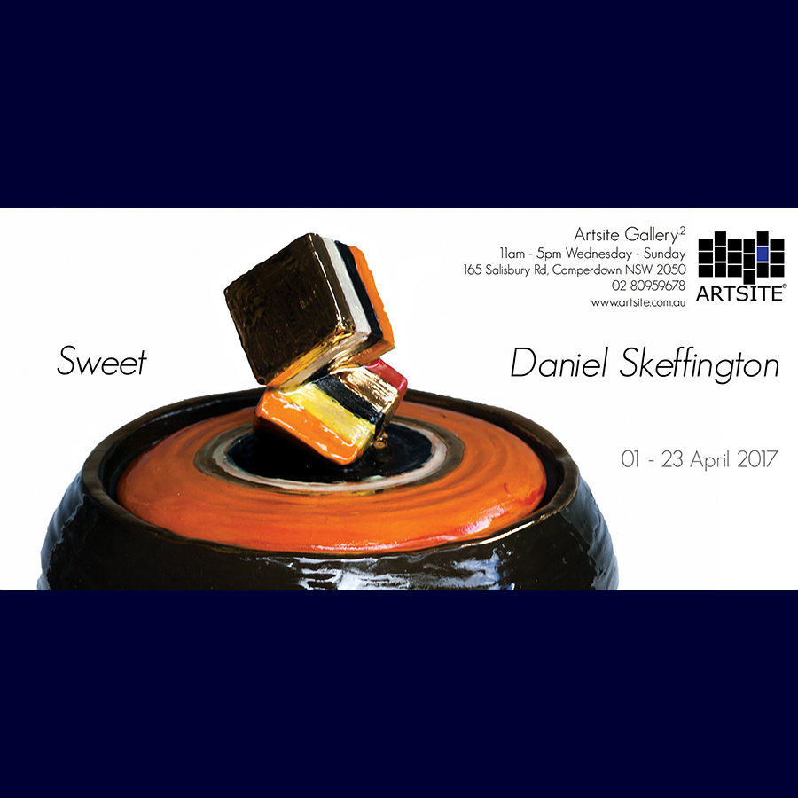 Daniel Skeffington: Sweet. Solo Exhibition Gallery_2, Artsite Gallery 01 - 23 April 2017.