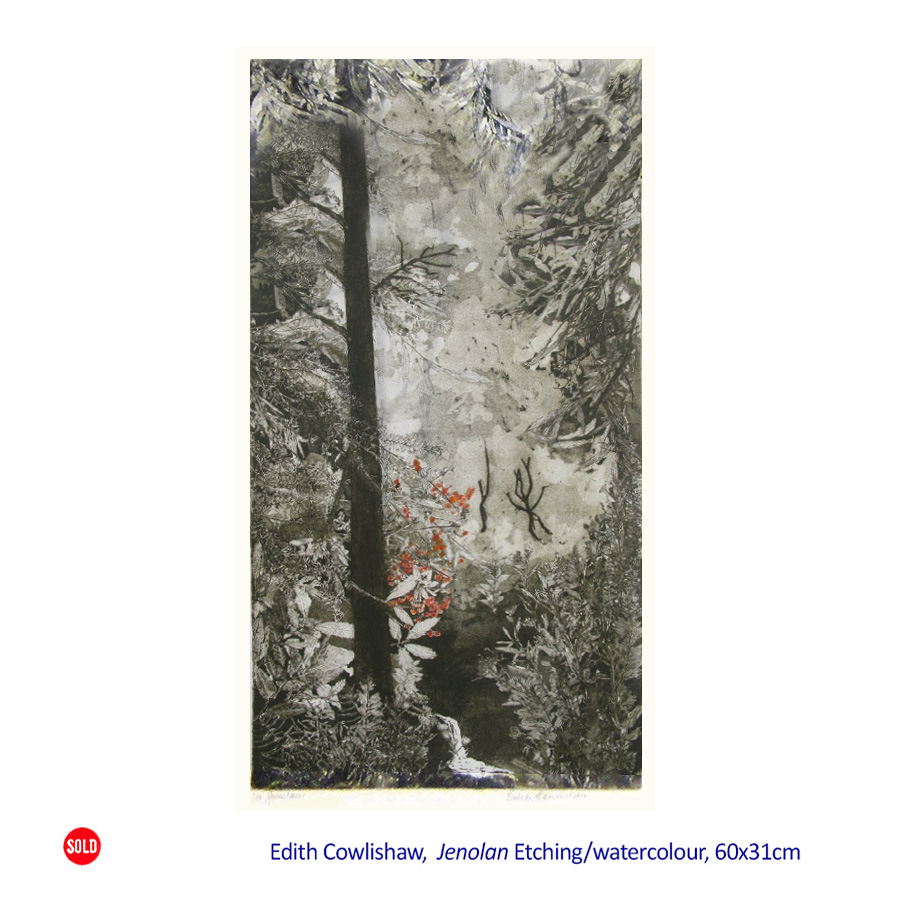 Solo Exhibition - Edith Cowlishaw - Etchings 07 February - 01 March 2015.