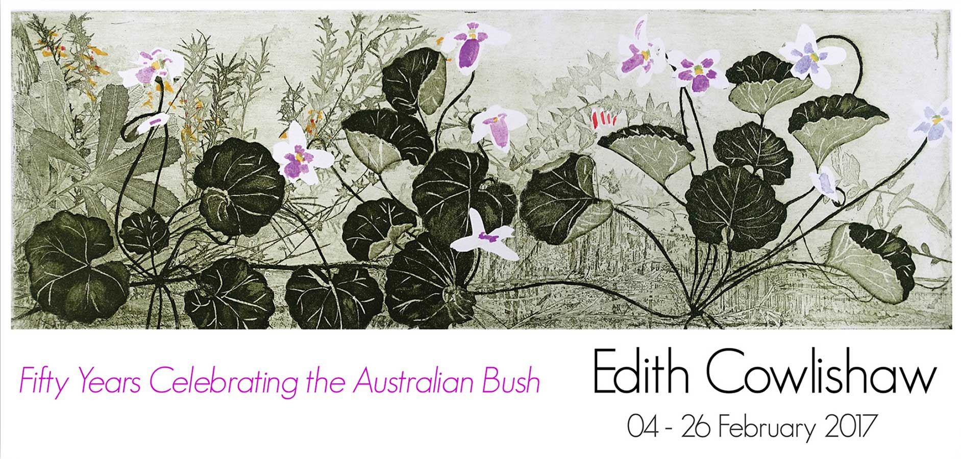 Artsite Gallery Exhibition. Edith Cowlishaw: Fifty Years Celebrating the Australian Bush. Solo Exhibition, Gallery_1, 04-26 February 2017