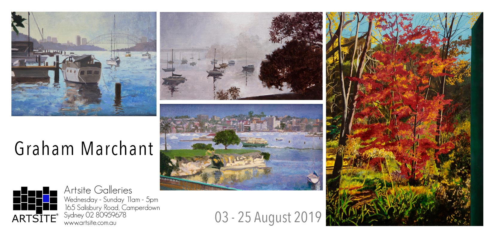 Artsite Gallery Exhibition | Gallery.1 | Graham Marchant | Seasonal Nocturnes | Solo Exhibition | 03 - 25 August 2019.