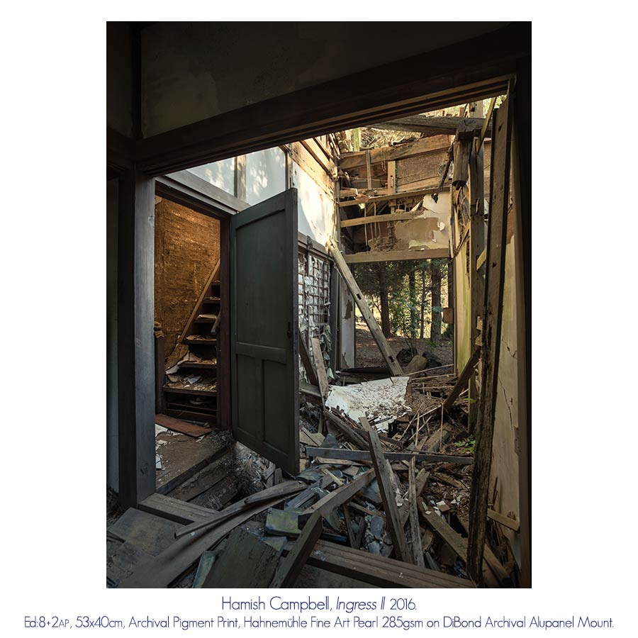 Hamish Campbell - The Taisho Photographer's House. Head On Photo Festival Solo Exhibition. Artsite Gallery 07 - 29 May 2016.