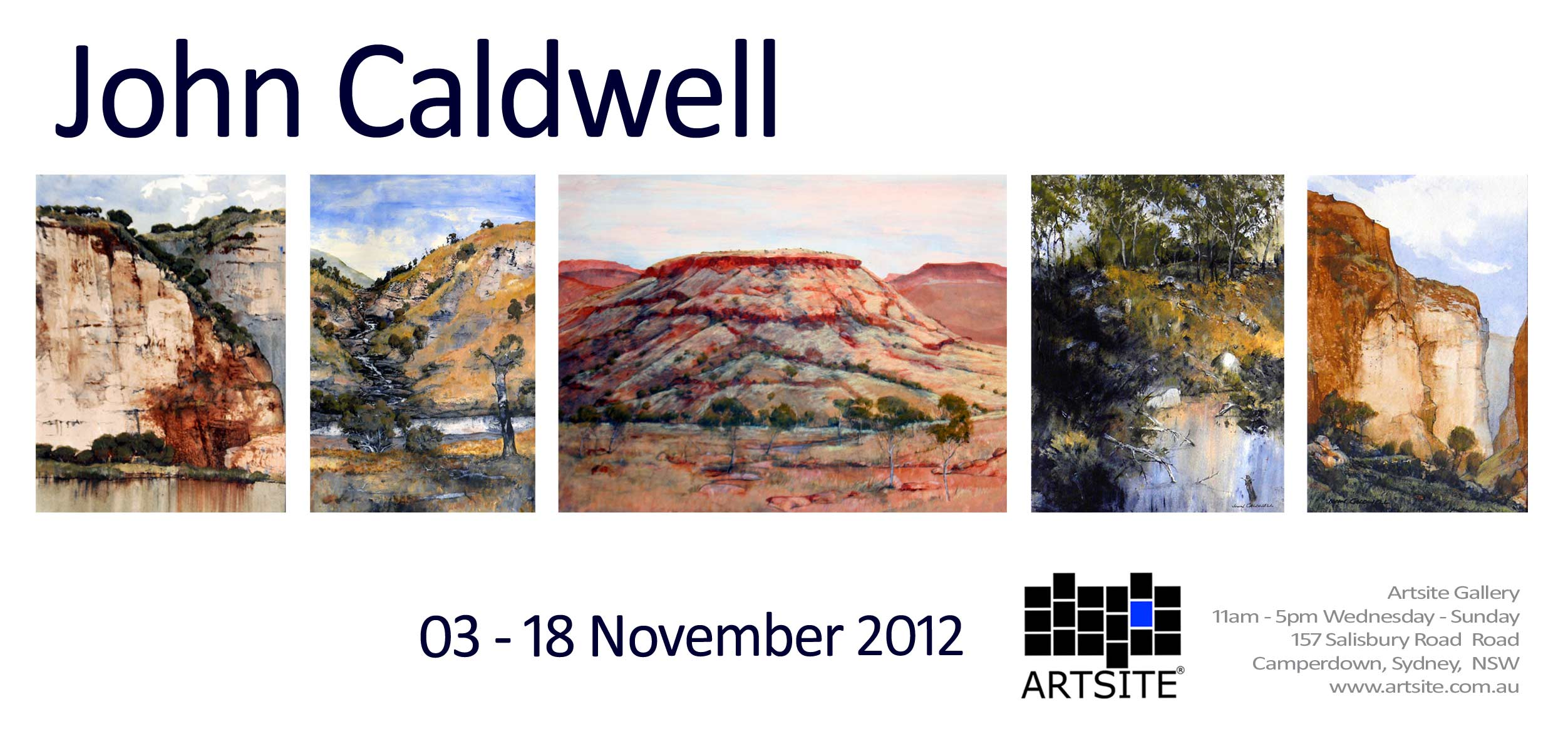 View Exhibition at Artsite Gallery, Sydney: John Caldwell - New Paintings. 03 - 18 November 2012.