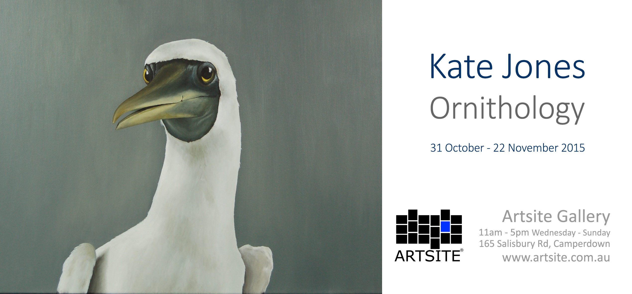 View Exhibition at Artsite Gallery, Sydney: Ornithology - Kate Jones 31 October - 22 November 2015