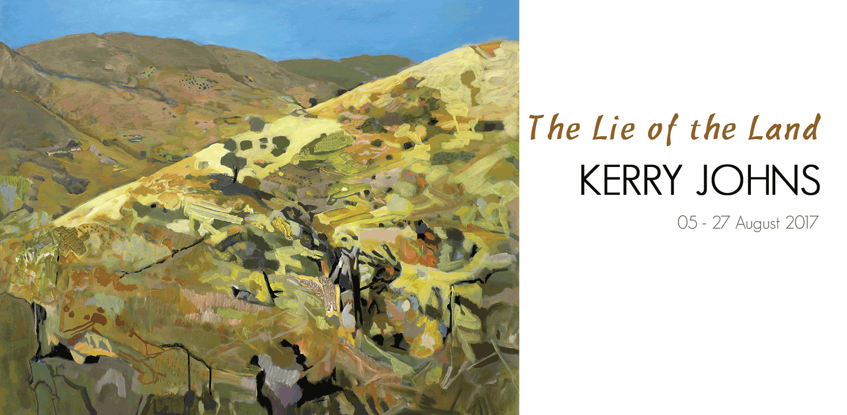 View Exhibition at Artsite Gallery, 05 - 27 August 2017: The Lie of the Land - Kerry Johns
