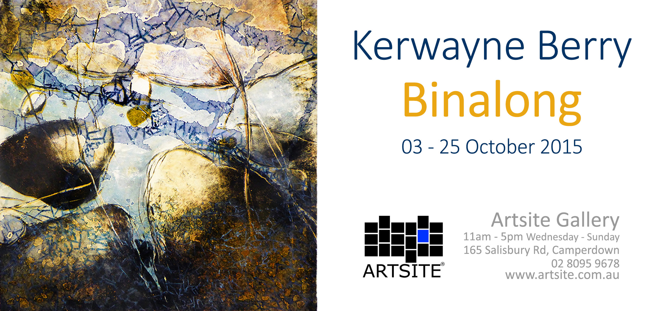 Kerwayne Berry's first Solo Exhibition at Artsite Gallery October 2015