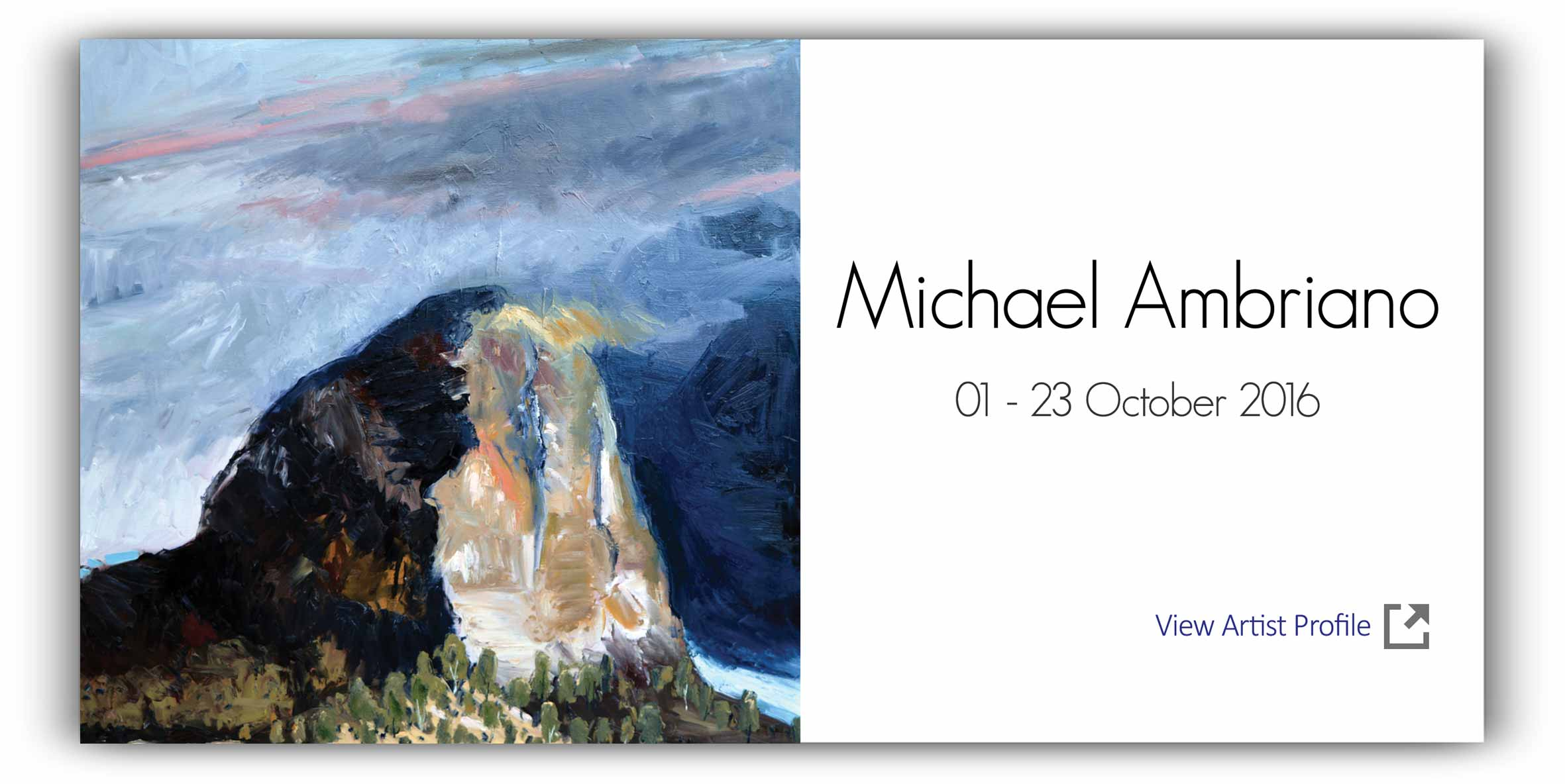 View Exhibition at Artsite Gallery, Sydney: 01 - 23 October 2016:Michael Ambrian