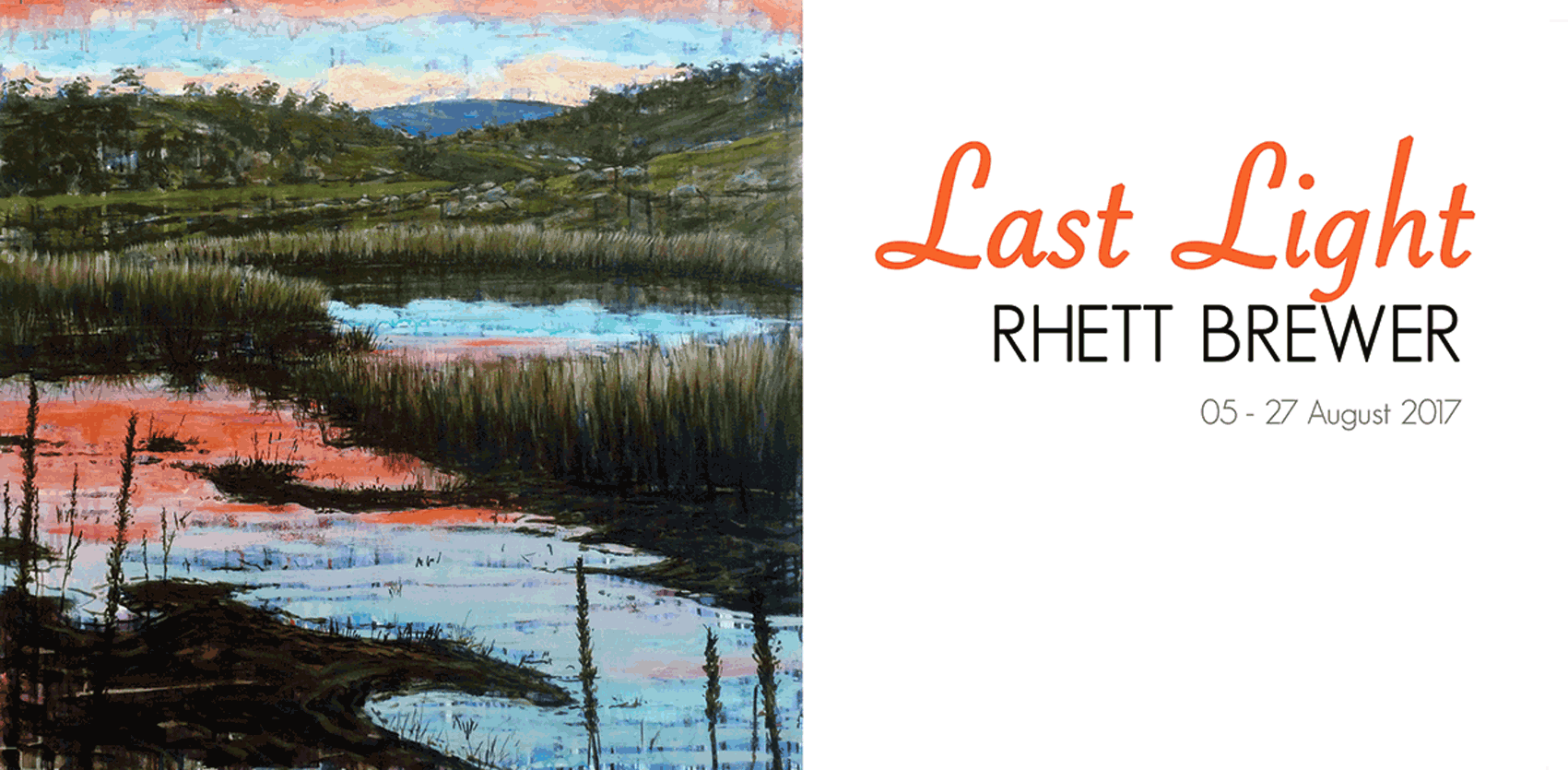 View Exhibition at Artsite Gallery, Sydney: 05 - 27 August 2017 - Last Light - Rhett Brewer