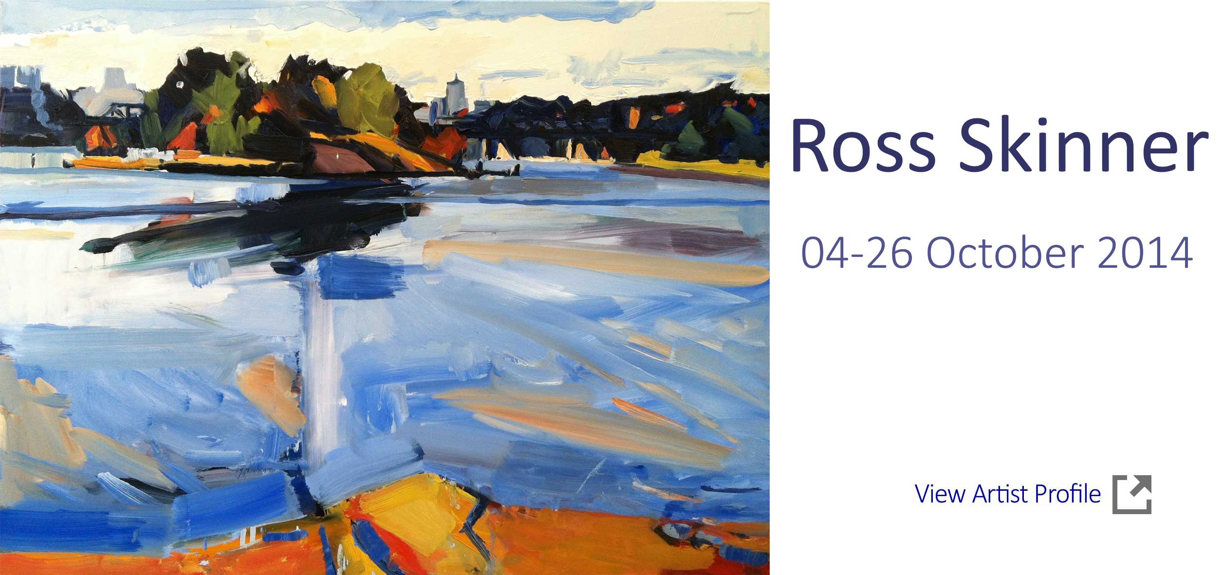 Artsite Gallery Exhibition  - Ross Skinner - New Paintings, Solo Exhibition   04 - 26 October 2014