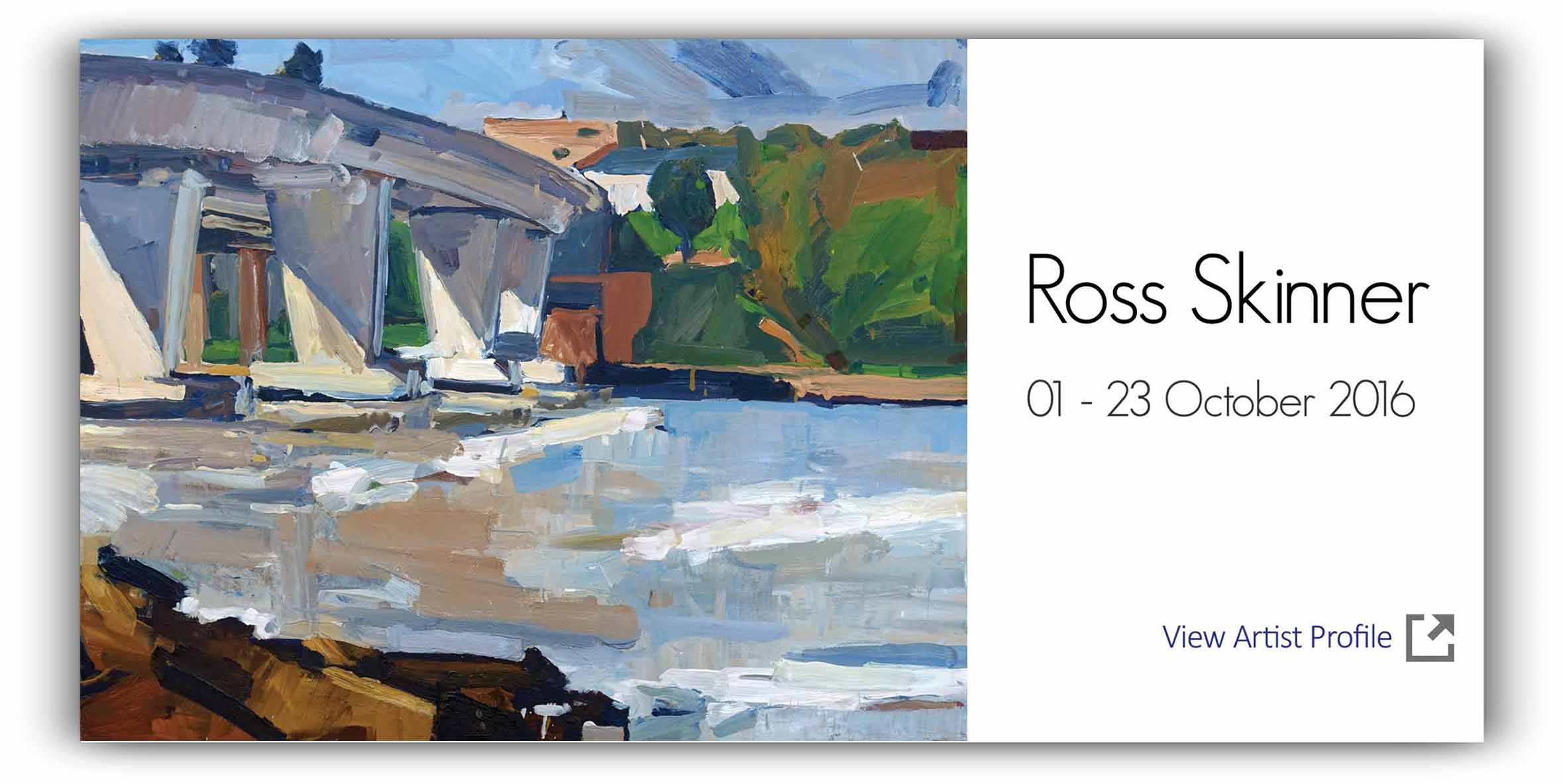 View Exhibition at Artsite Gallery, Sydney: 01 - 23 October 2016: Ross Skinner - In a Marine Light