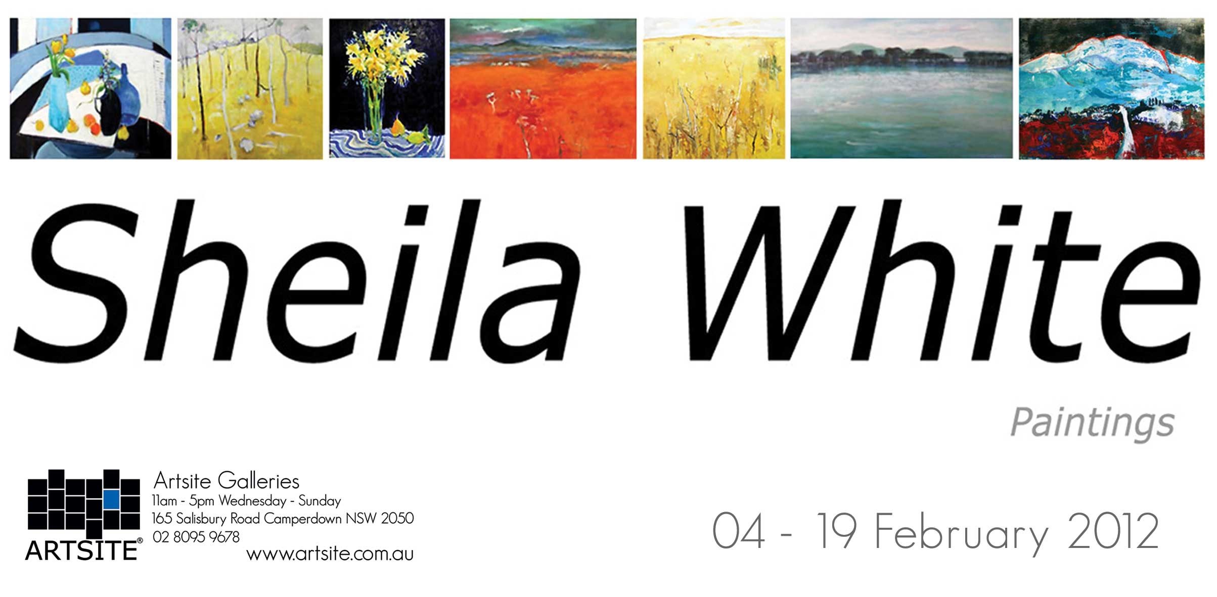 View Exhibition at Artsite Gallery, Sydney: 04 - 19 February 2012 Sheila White - Solo Exhibition