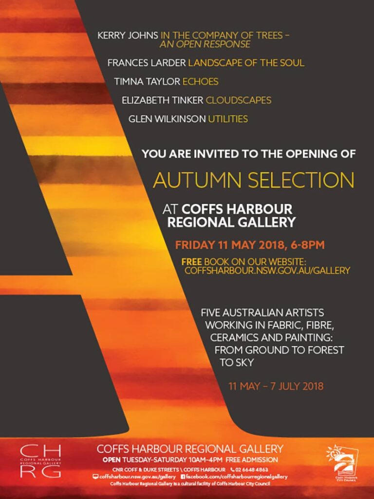 """Kerry Johns   """"In the company of Trees""""Exhibition   Coffs Harbour Regional Gallery"""