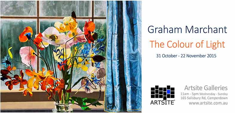 Graham Marchant: The Colour of Light, 31 October - 2 November 2015, Artsite Galleries exhibition archive.