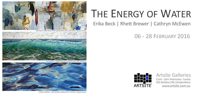 The Energy Of Water, 06 - 28 February 2016, Artsite Galleries exhibition archive.