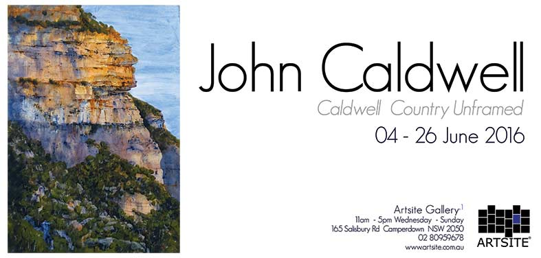 John Caldwell: Caldwell Country Unframed, 04 - 26 June 2016, Artsite Galleries exhibition archive.