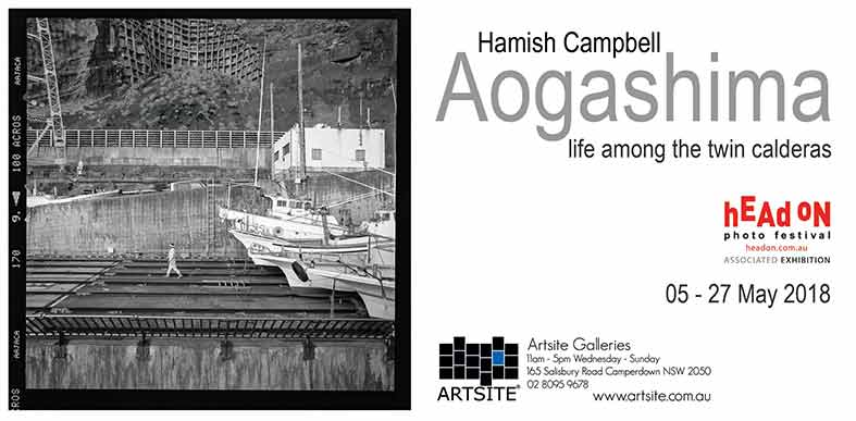 Hamish Campbell: Aogashima - life among the twin calderas Head On Photo Festival 2018, 05 - 27 May 2018, Artsite Galleries exhibition archive.
