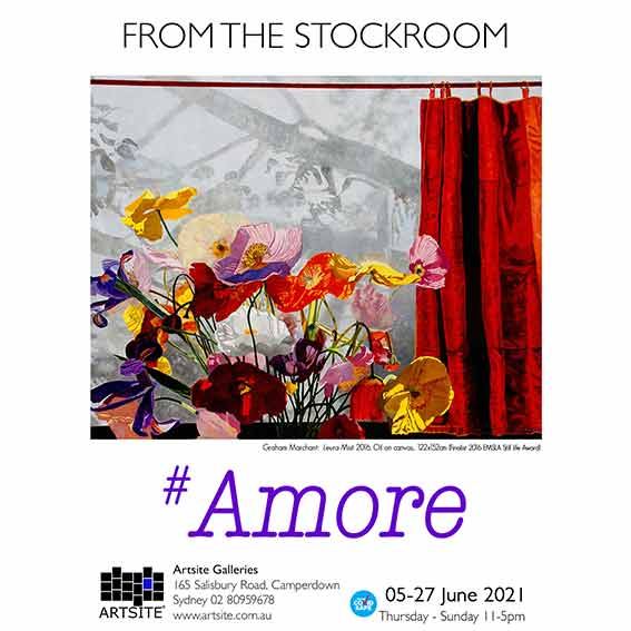 #Amore: (To Love) from the Stockroom 05 - 27 June 2021. Gallery_2. A COVID Safe exhibition. Artsite Galleries exhibition archive.